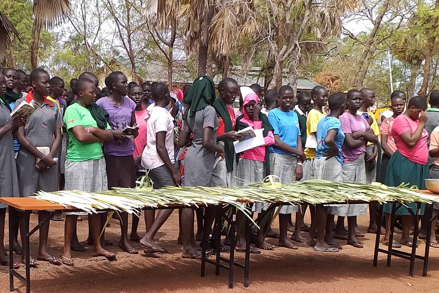 Psalm Sunday at Loreto Rumbek