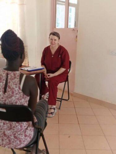 Sr Petra providing individual counseling