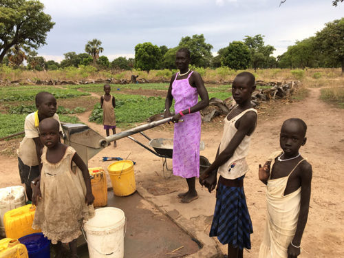 Water bore holes South Sudan