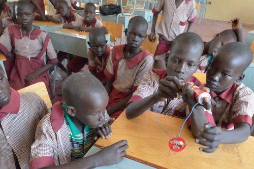 School kids in a classroom